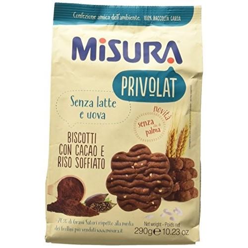 3 confezioni di Biscotto Cacao Misura Privolat da 290gr