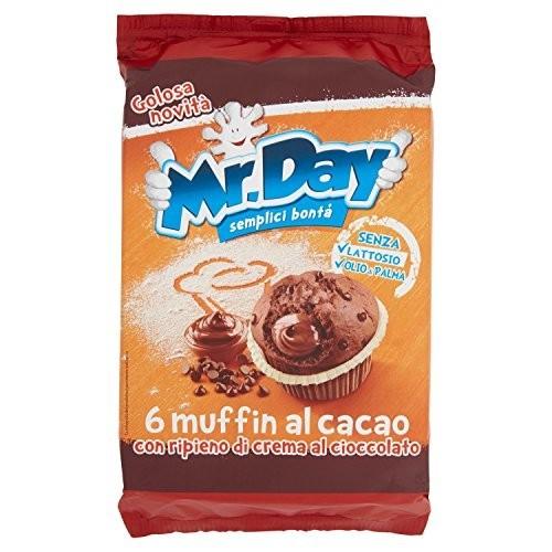 Muffin Mr. Day  al Cacao - 6 Pezzi da 252 gr