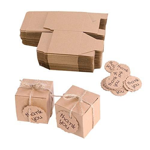 10 scatole carta Kraft per caramelle