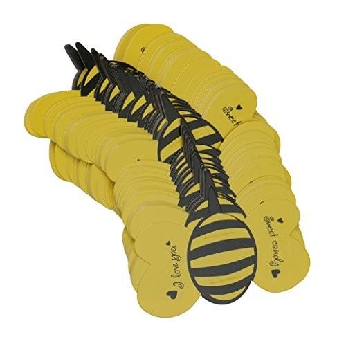 50 etichette per caramelle forma ape