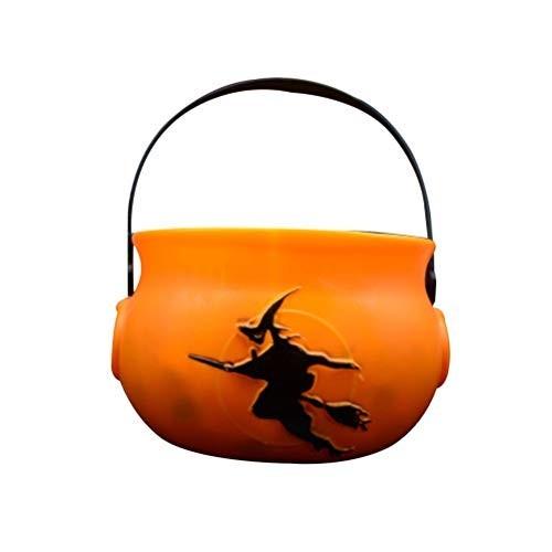 Zucca porta caramelle di Halloween
