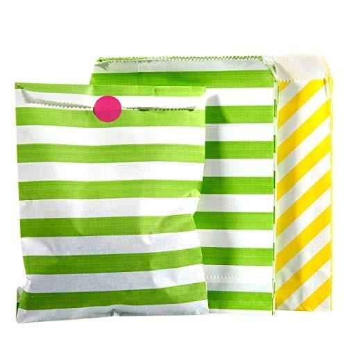 50 sacchetti di carta per Caramella con adesivi