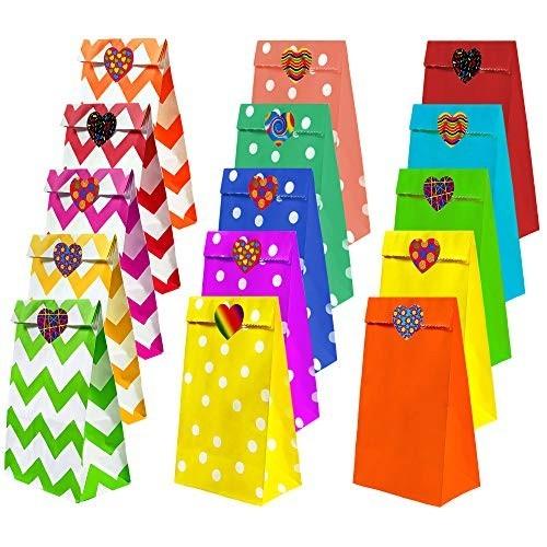 45 sacchetti regalo con adesivi per feste