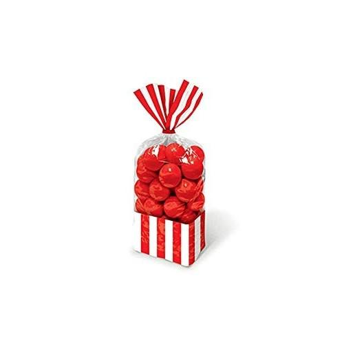 10 Sacchetti porta caramelle strisce rosse