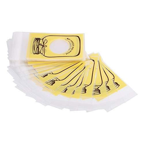200 bustine in plastica gialle per caramelle o biscotti