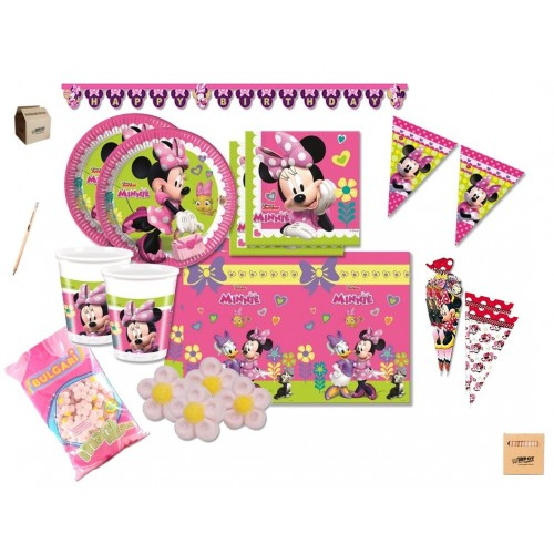 Kit compleanno 24 persone Minnie+ Marshmallow