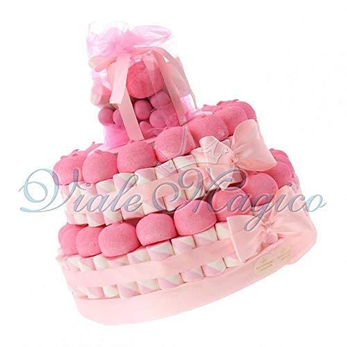 Torta Marshmallow Battesimo bambina