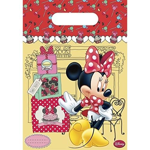 6 bustine per caramelle Minnie Mouse Café