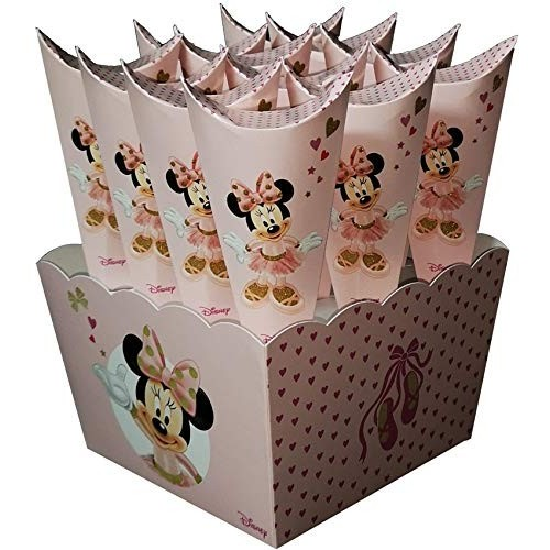 12 Astucci cono per caramelle di Minnie Disney