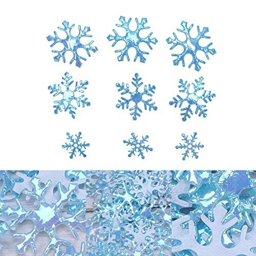 600 Fiocchi di Neve glitterati decorativi