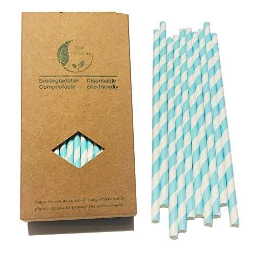 100 Cannucce di carta celesti caramellata Frozen