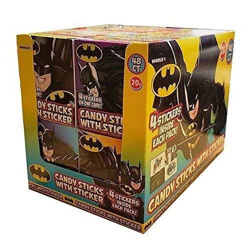 Bastoncini di zucchero Batman con adesivi