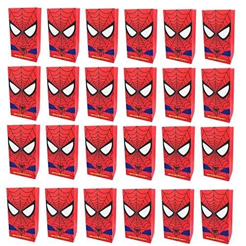 24 sacchetti di Spiderman per caramelle