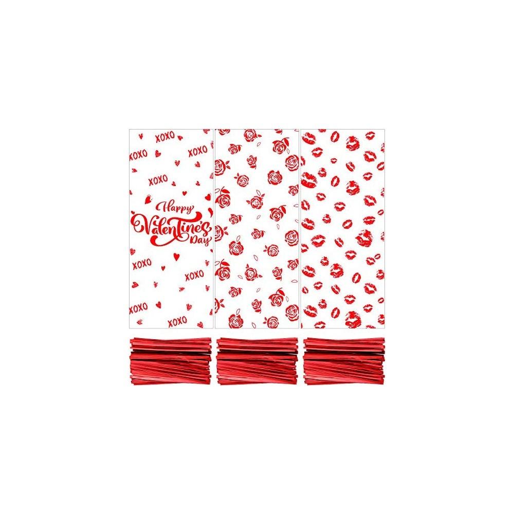 150 Sacchetti di San Valentino in cellophane