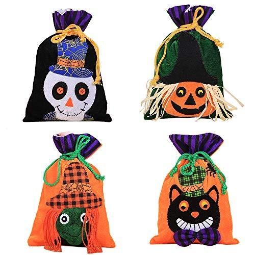 4 bustine Halloween Dolcetto o Scherzetto
