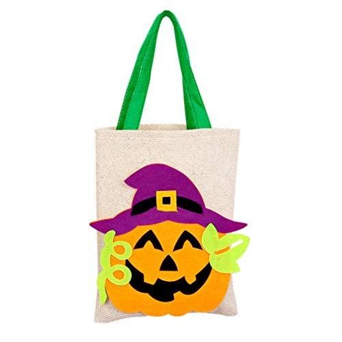 Sacchetto Halloween con Zucca, per caramelle