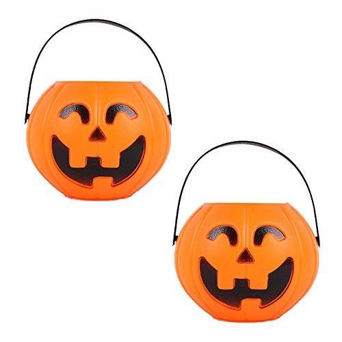 Secchio zucca Halloween porta caramelle