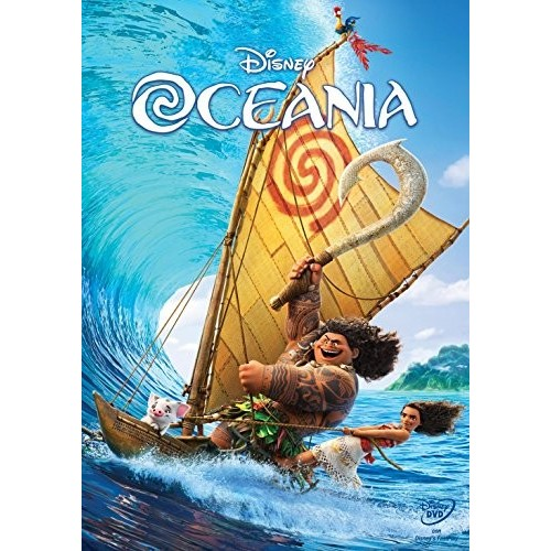 Film Oceania Disney in DVD e Blue Ray (2017)