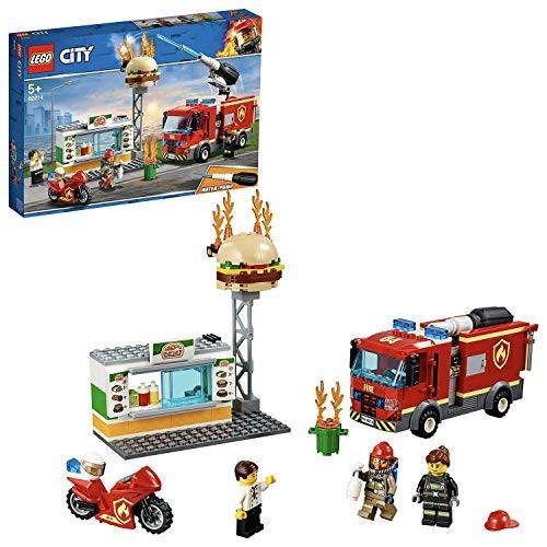 Gioco LEGO City Fire Fiamme al Burger bar con 3 modellini