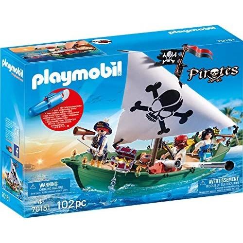 Modellino Nave pirata con motore subacqueo Playmobil Pirates