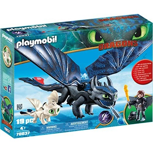 Playmobil Dragons - Sdentato e Hiccup con Baby Dragon