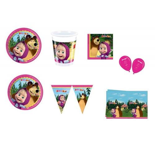 Kit compleanno 8 persone Masha e Orso