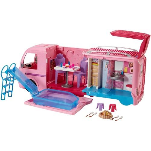 Barbie Camper dei sogni con piscina, bagno, cucina