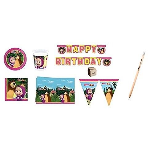 Kit compleanno 40 persone Masha e Orso