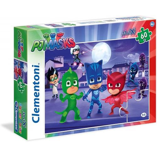 Puzzle PJ Mask da 60 Pezzi - Super Pigiamini - Clementoni