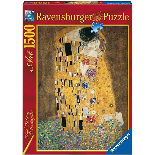 Puzzle Klimt, quadro Il Bacio da 1500 Pezzi - Ravensburg
