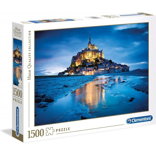 Puzzle Le Mont St.Michel di Notte High da 1550 pezzi - Clementoni