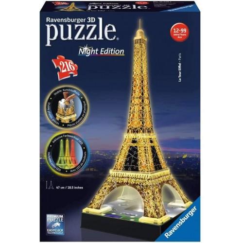 Puzzle Tour Torre Eiffel 3D con LED, 126 pezzi - Ravensburger