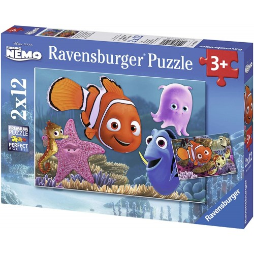 Set 2 puzzle di Nemo Disney da 12 pz - Ravensburger