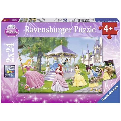 Set 2 puzzle Disney Princess da 24 Pezzi - Ravensburger