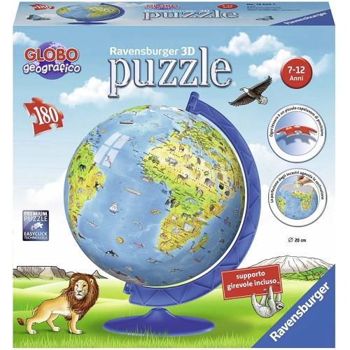 Puzzle Globo Geografico 3D da 180 pezzi - Ravensburger