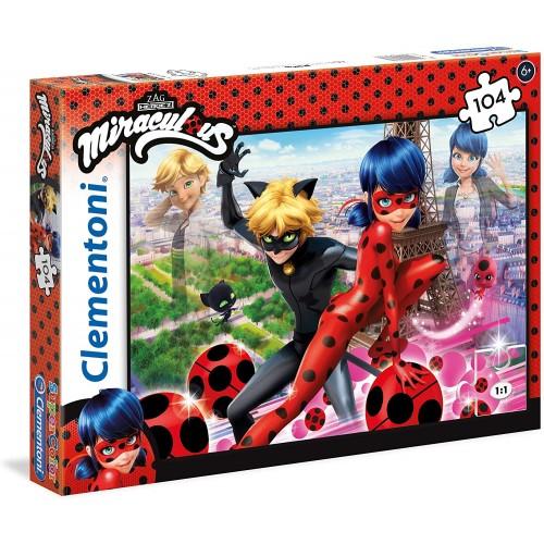Puzzle Miraculous Ladybug da 104 Pezzi - Clementoni