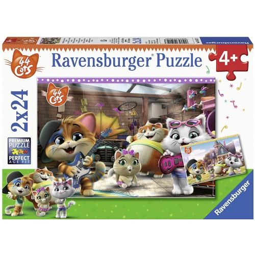 Set 2 Puzzle 44 Gatti Puzzle da 24pz - Ravensburger