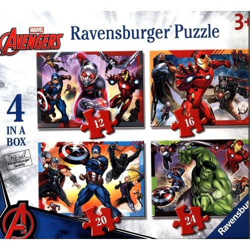 Set 4 puzzle Marvel Avengers - Ravensburger