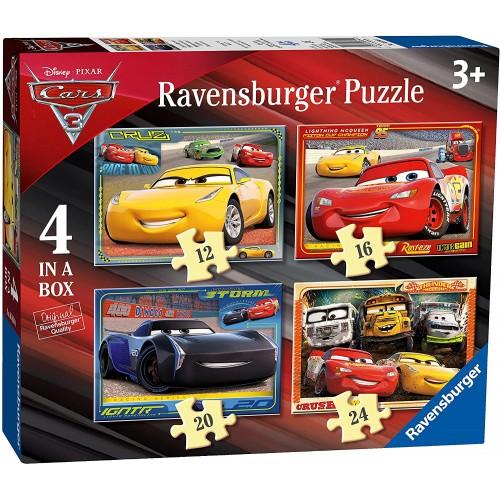 Set 4 Puzzle di Cars 3 Disney - Ravensburger