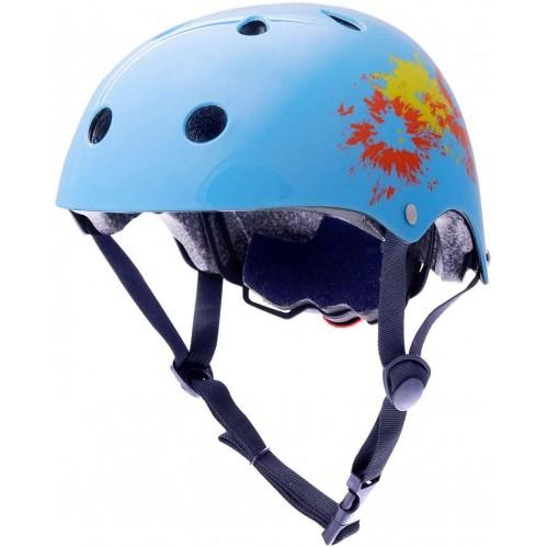 Casco bici per bambini celeste, regolabile, 50-54 cm