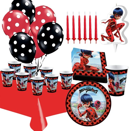Kit compleanno per 8 persone Lady bug