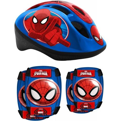 Set di protezione Spiderman con casco e ginocchiere