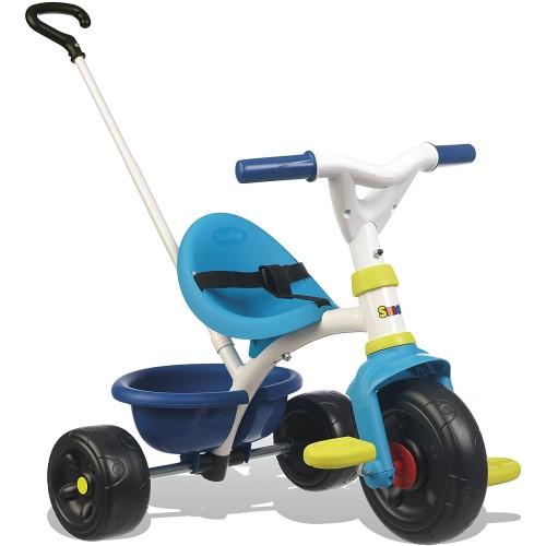 Triciclo con maniglia parentale bianco/azzurro Smoby