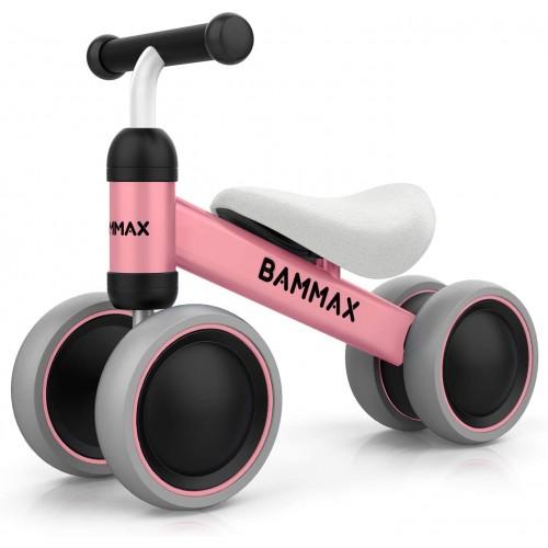 Triciclo senza pedali colore rosa - Bammax