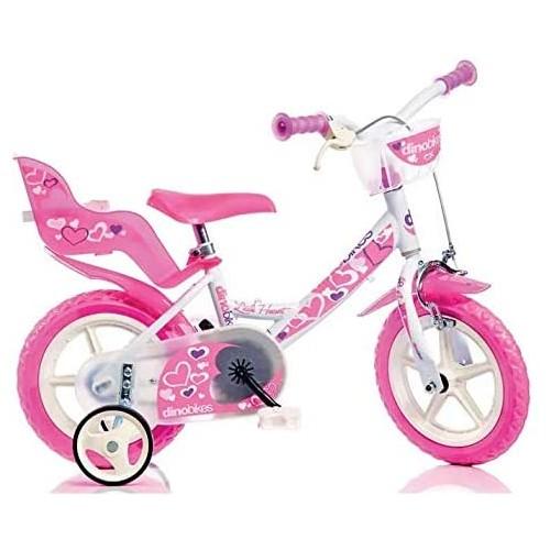 Bicicletta Girl con cuori da 12 pollici per bambine