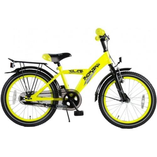 Bicicletta Thombike da 18 Pollici con portapacchi giallo fosforescente