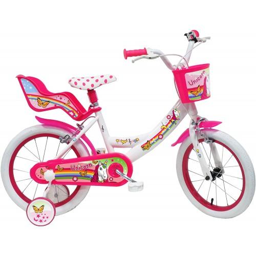 Bicicletta unicorno da 16 pollici per bambine