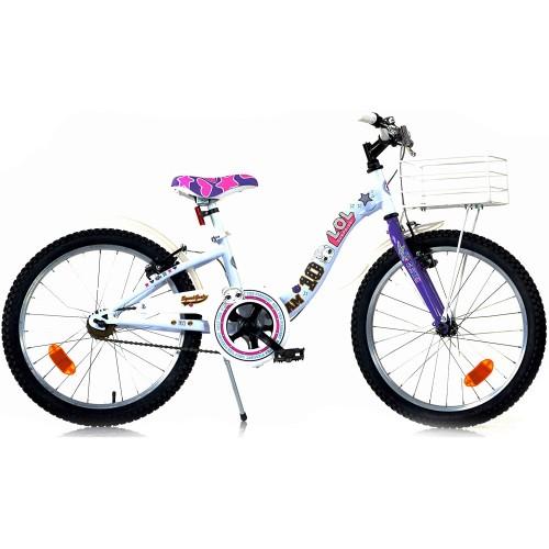 """Bicicletta LOL Surprise da 20"""" Bianca e Viola"""