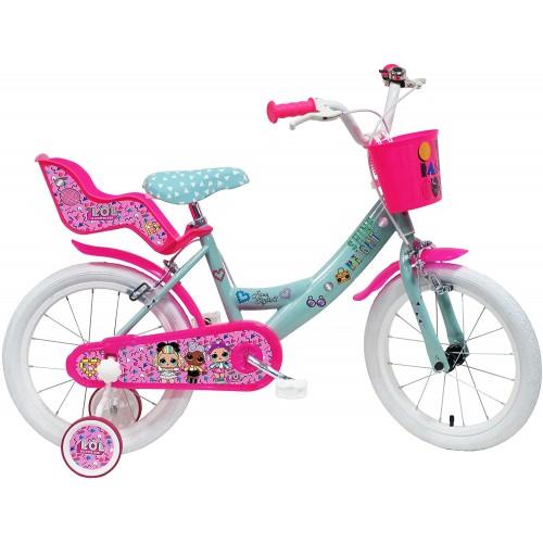 Bici bimba da 16 pollici LOL Surprise, idea regalo
