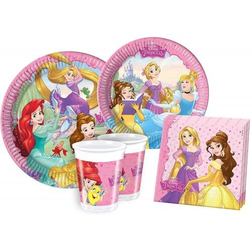 Kit compleanno 24 persone Principesse Disney